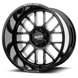 MO404 Gloss Black Milled 8 lug