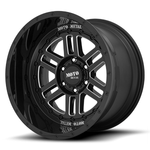 MO800-Deep Six Gloss Black Milled 6 lug