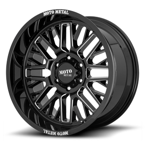 MO802 Gloss Black Milled 6 lug