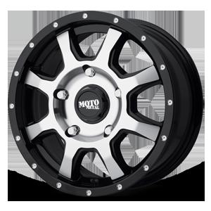 Moto Metal MO970 Euro Van 5 Gloss Black w/ Machined Face