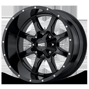 Moto Metal MO970 - Gloss Black Milled Lip 5 Gloss Black w/ Milled LIp
