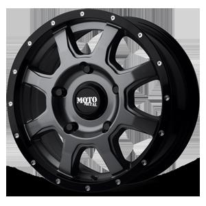 Moto Metal MO970 Euro Van 5 Gloss Grey Center w/ Gloss Black Lip
