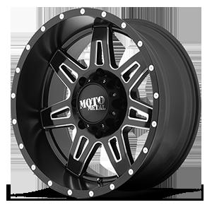 Moto Metal MO975 8 Satin Black Milled