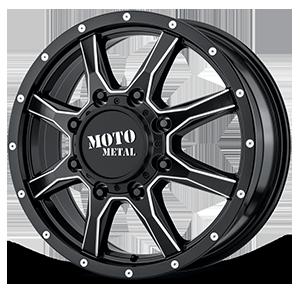 Moto Metal MO995 8 Satin Black Milled