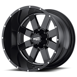 Moto Metal MO962 8 Gloss Black w/ Milled Accents