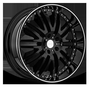 Z04 M-Sport Gloss Black with Machined Stripe 5 lug