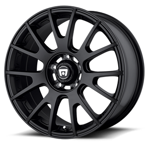 MR118 Matte Black 5 lug