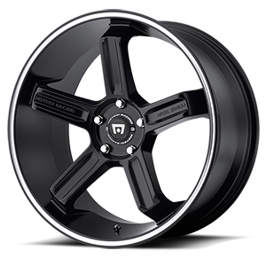 MR122 Satin Black w/ Machined Stripe 5 lug