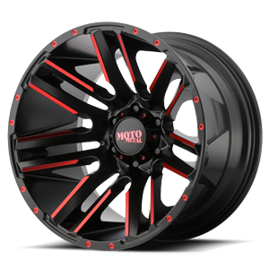 Moto Metal MO978 Razor 6 Satin Black Machined w/ Red Clear Coat