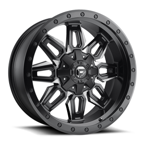 Fuel 1-Piece Wheels Neutron - D591 5 Black & Milled