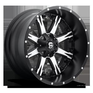 Fuel 1-Piece Wheels Nutz - D541 5 Black w/ Machined Face