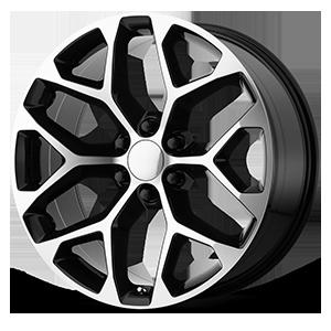 OE Creations 176 6 Gloss Black Machined