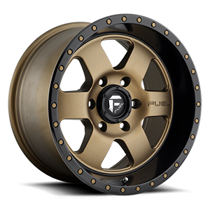 Fuel 1-Piece Wheels Podium - D617 6 Bronze w/ Black Lip