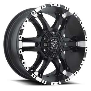 Panther Off-Road 810 6 Flat Black Machined