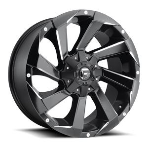 Fuel 1-Piece Wheels Razor - D592 6 Black & Milled