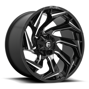 Fuel 1-Piece Wheels Reaction - D753 6 Gloss Black Milled