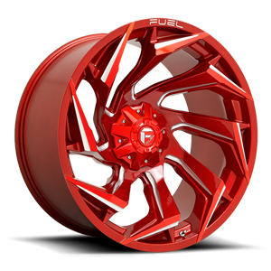 Fuel 1-Piece Wheels Reaction - D754 5 Candy Red & Milled