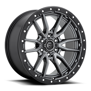 Fuel 1-Piece Wheels Rebel 6 - D680 6 Anthracite Center w/ Black Lip