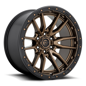 Fuel 1-Piece Wheels Rebel 6 - D681 6 Bronze w/ Black Lip