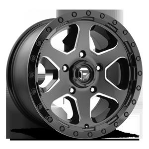 Fuel 1-Piece Wheels D590 RIPPER 5 Gloss Black & Milled