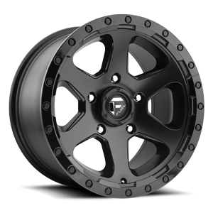 Fuel 1-Piece Wheels D589 RIPPER 5 Matte Black | Gloss Black Lip