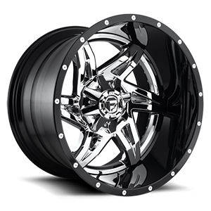 Rocker - D272 Chrome with Gloss Black Lip 5 lug