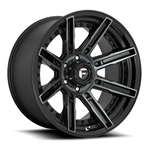 Fuel 1-Piece Wheels Rouge - D708 6 Gloss Black/Brushed Gloss DDT