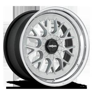 Rotiform RSE-M 5 Matte Silver w/ Chrome Lip