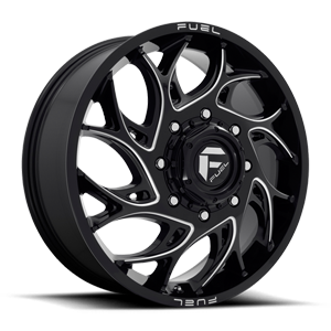 Runner Dually Front - D741 Gloss Black Milled 8 lug