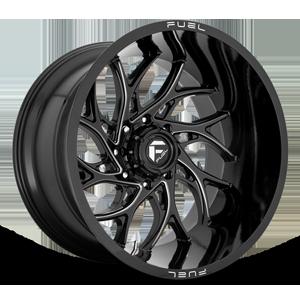 Fuel 1-Piece Wheels Runner - D741 8 Gloss Black & Milled