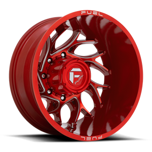 Runner Dually Rear - D742 Candy Red Milled - 20x8.25 - ET-176 8 lug