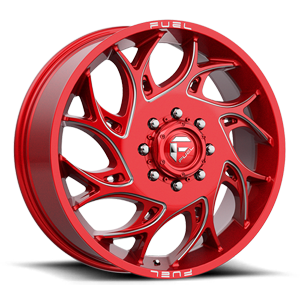 Runner Dually Front - D742 Candy Red & Milled 8 lug
