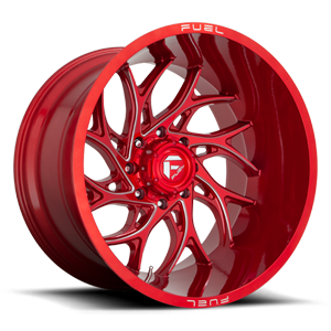 Fuel 1-Piece Wheels Runner - D742 8 Candy Red & Milled