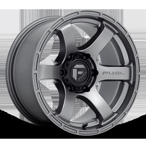 Fuel 1-Piece Wheels Rush - D767 6 Matte Gunmetal