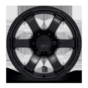 Rush - D766 Satin Black 6 lug