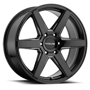Raceline Wheels 156B Surge 6 Black Machined