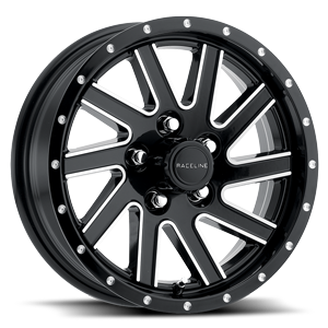 Raceline Wheels 820 Twisted 5 Black & Milled