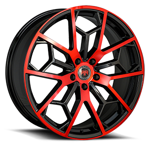 R23 Black and Red 5 lug