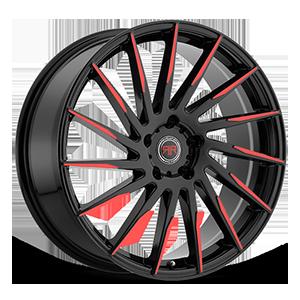 R15 Black/Red 5 lug
