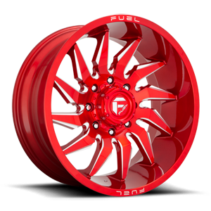 Fuel 1-Piece Wheels D745 SABER 8 Candy Red & Milled