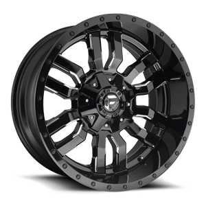 Fuel 1-Piece Wheels Sledge - D595 5 Gloss Black & Milled
