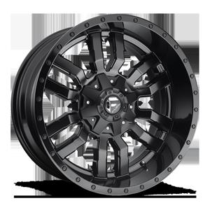 Fuel 1-Piece Wheels Sledge - D596 5 Matte Black | Gloss Black Lip