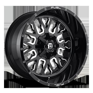 Fuel 1-Piece Wheels D611 STROKE 5 Gloss Black & Milled