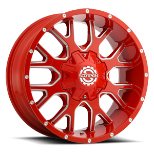 SC-19 Neon Red Milled 8 lug