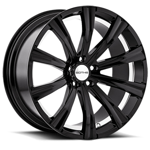 SC101 Gloss Black w/ Inner Rim Machined 5 lug