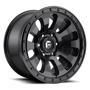Fuel 1-Piece Wheels D630. TACTIC 6 Matte Black