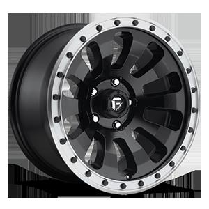 Fuel 1-Piece Wheels D629 TACTIC 5 Black w/ Machined Lip