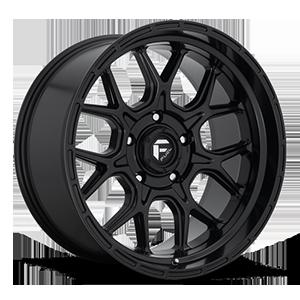 Fuel 1-Piece Wheels Tech - D670 5 Matte Black