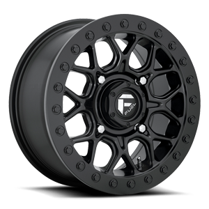 Fuel UTV Wheels Tech - D916 Beadlock 4 15x7 | Black Center w/ Black Beadlock