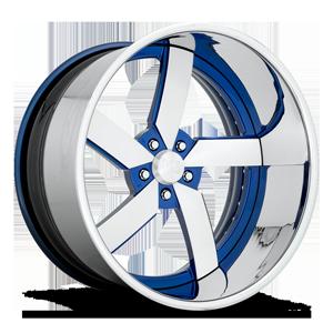 US Mags Torque 5 - US463 5 Nissan Daytona Blue Metallic w/ Chrome LIp